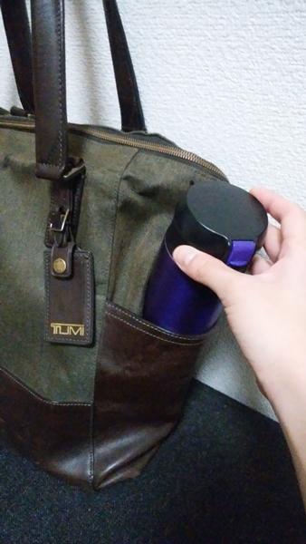 ペットボトルが入るサイドポケットが2つ