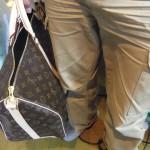 ルイヴィトンの大きいモノグラム旅行鞄
