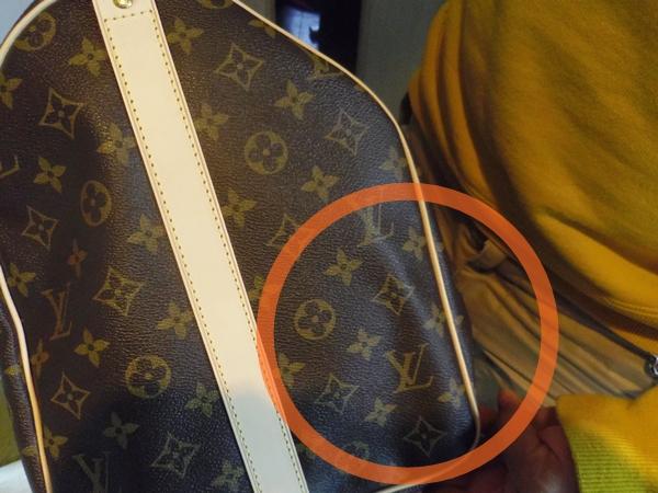 折り目が入ってしまったヴィトンのバッグ