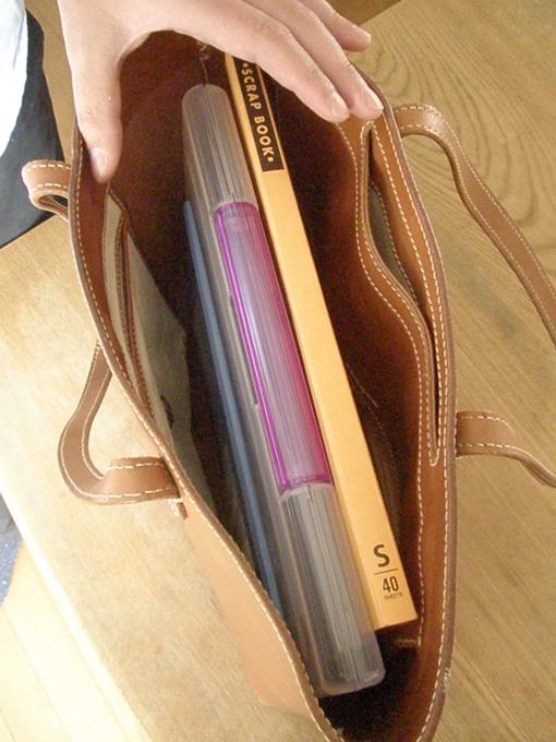 普段はビジネスバッグ、出勤やちょっとした視察出張にも使用