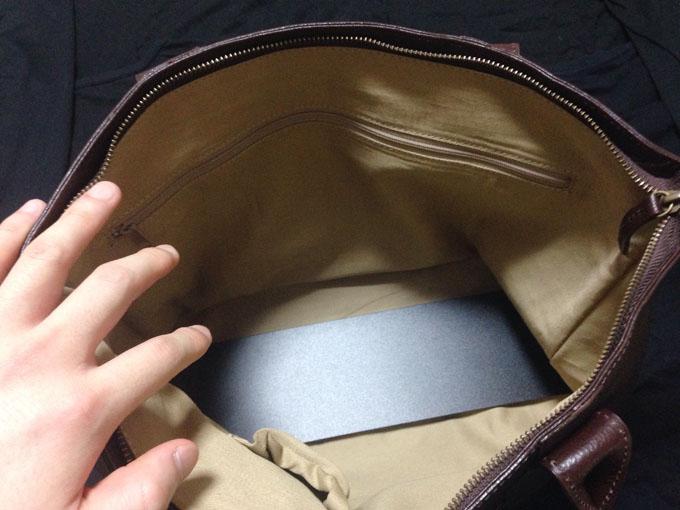 バッグの中はとても広い