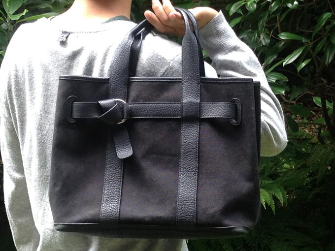 上質な柔らかい革の「エルメス」メンズハンドバッグ