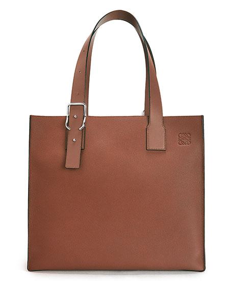 Buckle Tote Bag Cognac