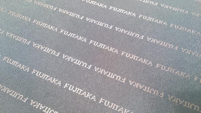 内側の布地にもフジタカロゴ。