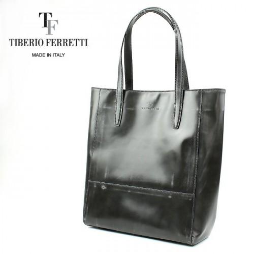 TIBERIO FERRETTI ティベリオフェレッティ コードバン加工 トートバッグ