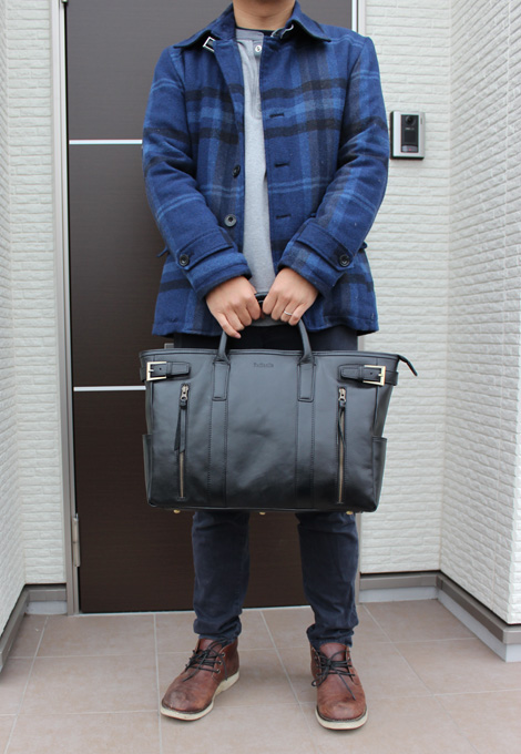 Raffaelo(ラファエロ)カーフレザーのメンズ革バッグ