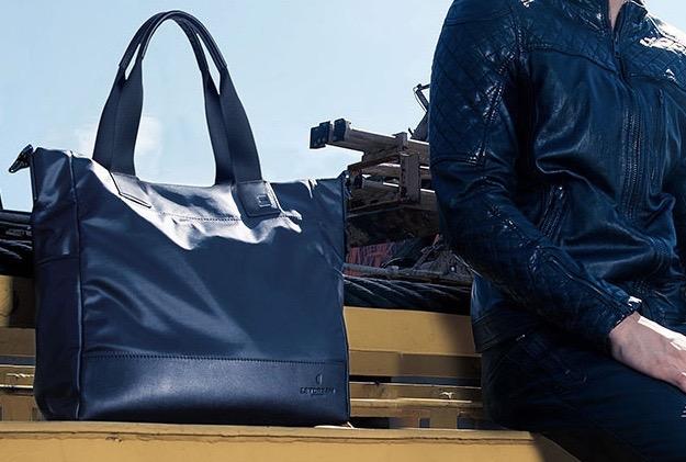 本革×撥水ナイロン ビジネスバッグ