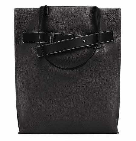 Vertical Strap Tote Bag ブラック