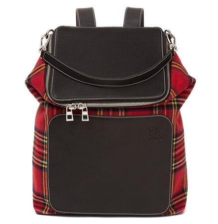 Goya Tartan Backpack Black/Red Tartan