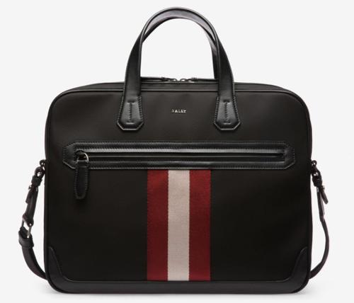 メンズ ブラック ナイロン ビジネスバッグ