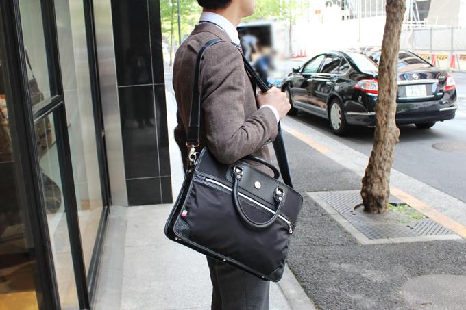 オロビアンコで購入した、ビジネスバッグ、『ZEA-F』