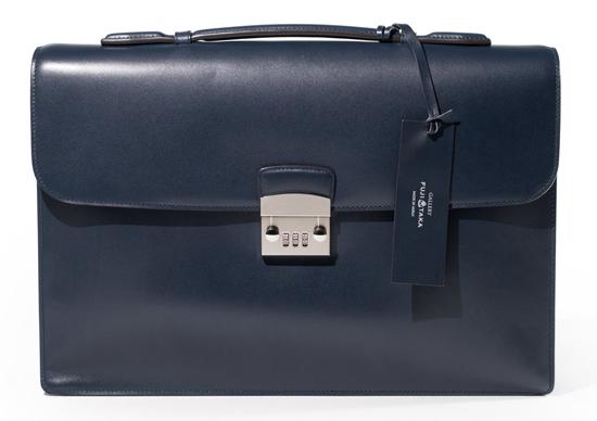 名巧レザービジネスバッグ A4 カブセ デュプイ社ボックスカーフ No.50573