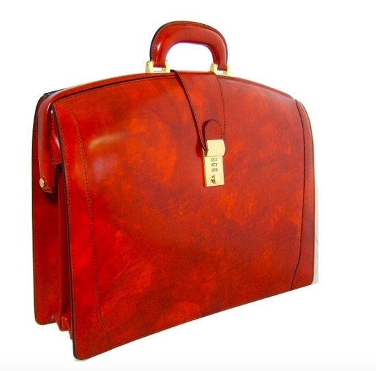 Italian Calf Leather Lawyer Briefcase