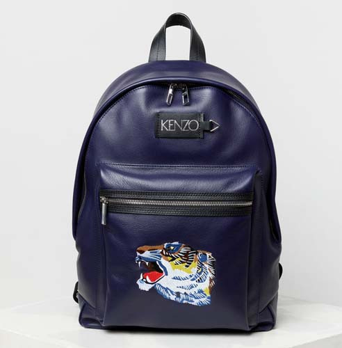 Leather 'Tiger Head' backpack 'Go Tigers Capsule'