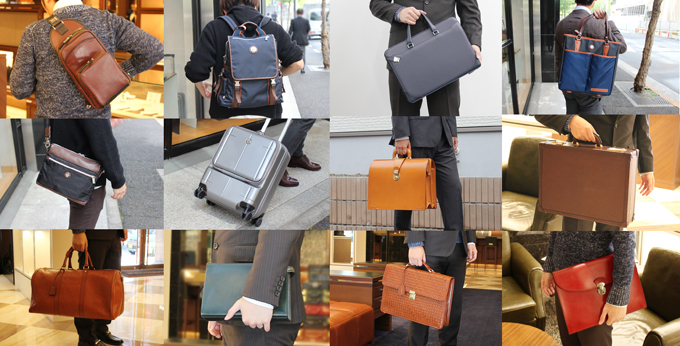 メンズバッグの種類と特徴、使い勝手や選び方