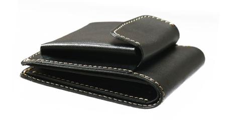 外小銭入れ付き2つ折り財布[nouki4]