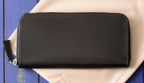 ラウンドファスナー長財布 コードバン カード段8 ジェメ財布 No.647604