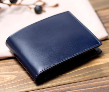二つ折り財布 カード段11 コードバン ステイン No.633604