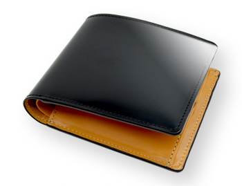 日本製コードバン二つ折り財布