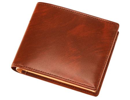 二つ折り財布(BOX小銭入れ付き札入)■シラサギレザー [8222]