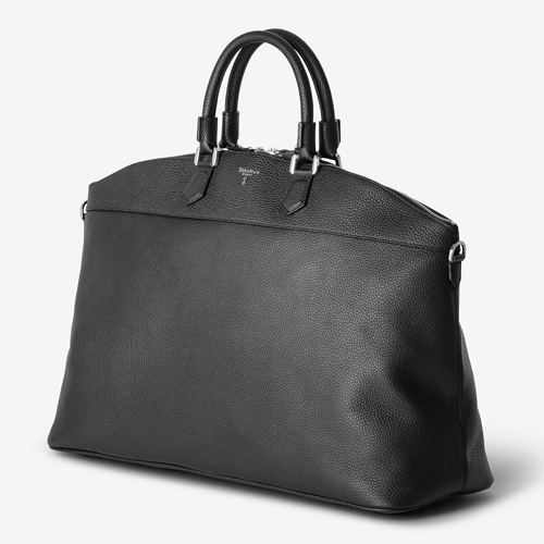 """LEISURE 14"", EAST/WEST TOTE BAG IN CACHEMIRE LEATHER"