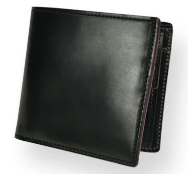 SHELL CORDOVAN 2 (シェルコードバン2)小銭入れ付き二つ折り財布