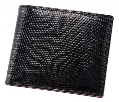 二つ折り財布(小銭入れ付き札入)■リザード [4231]