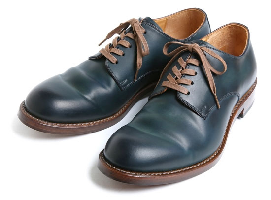 CORDOVAN PLAIN TOE OXFORD SHOES #2100