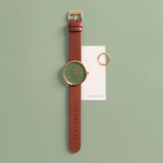 グリーンの時計