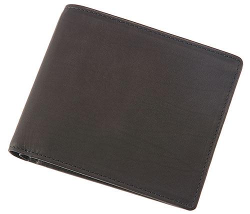 二つ折り財布(ベロ・小銭入れ付き札入)■レーニアカーフ