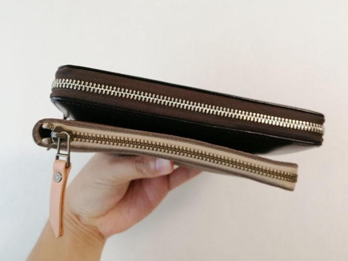 前の長財布