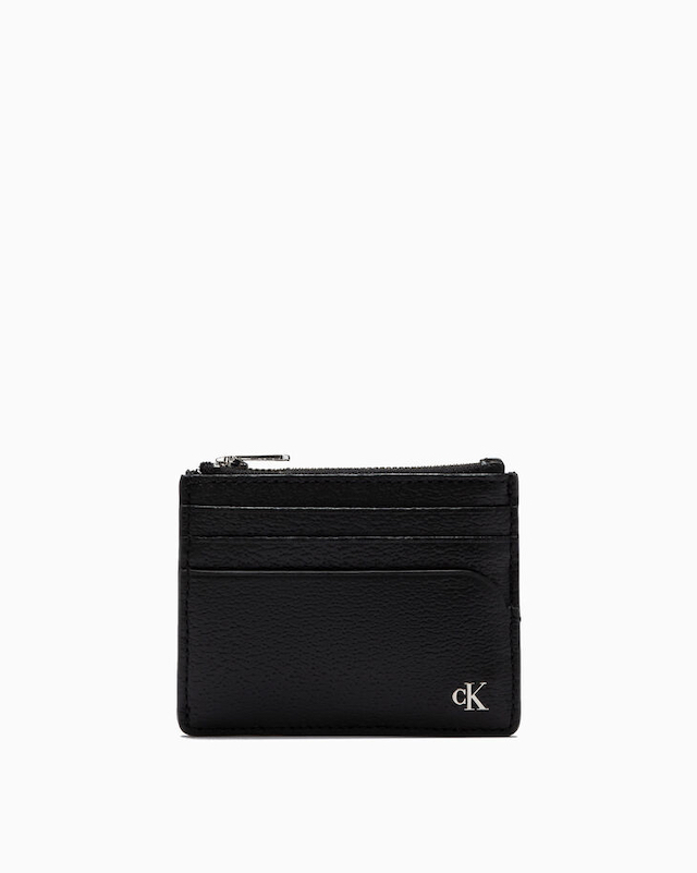 MONOGRAM TEXTURE CARD AND COIN CASE