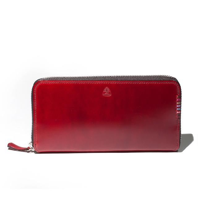 【オイルコードバン】フォール ラウンドファスナー 長財布 カード段16