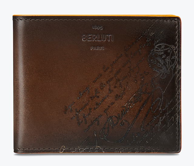 Makore Slim Scritto Leather Wallet