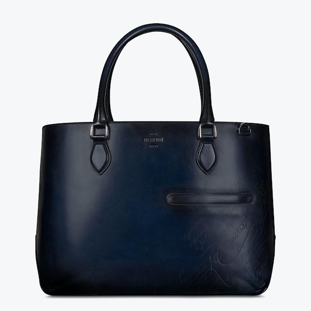 Toujours Scritto Leather Tote Bag