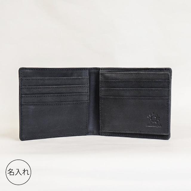 オールレザー コンパクト 二つ折り財布