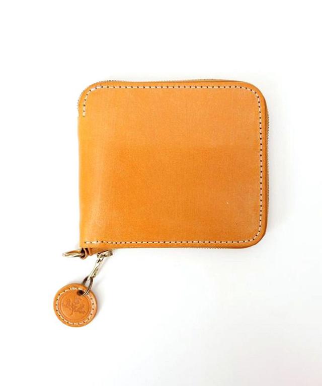 ジップ付二つ折り財布 全7色