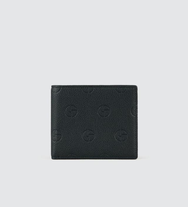 縦型二つ折りウォレット レザー製 エンボスロゴ入り